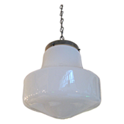 1940's Deco style school house light