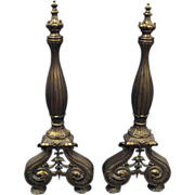 French turn of the century andirons