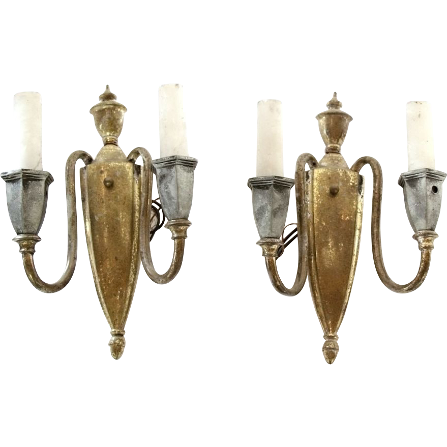 Early French torch style sconces