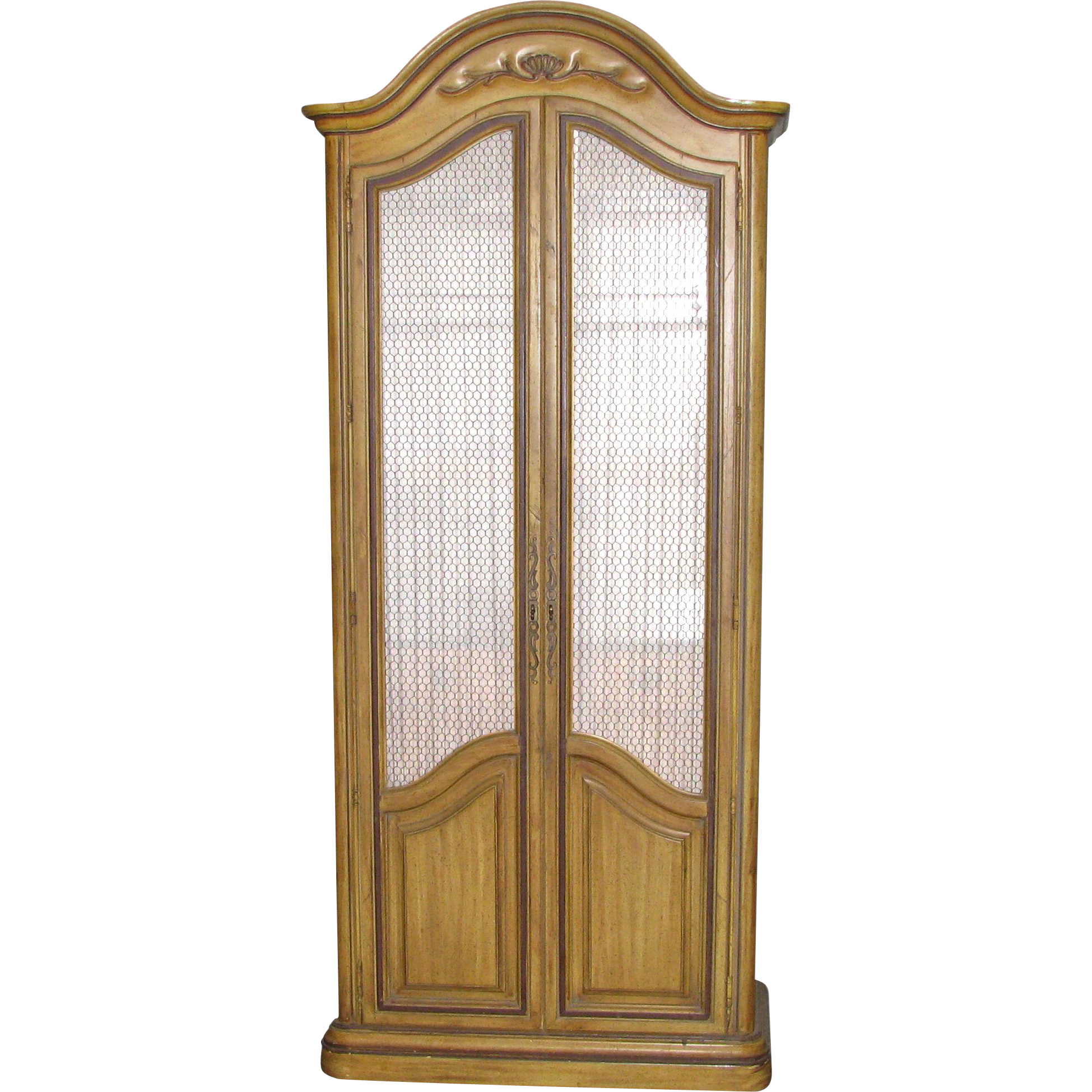 French style armoire with chicken wire doors