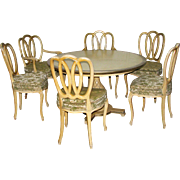 Vintage breakfast table and chairs set