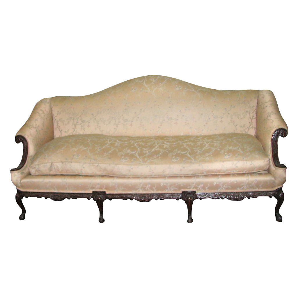 Georgian sofa with ivory upholstery