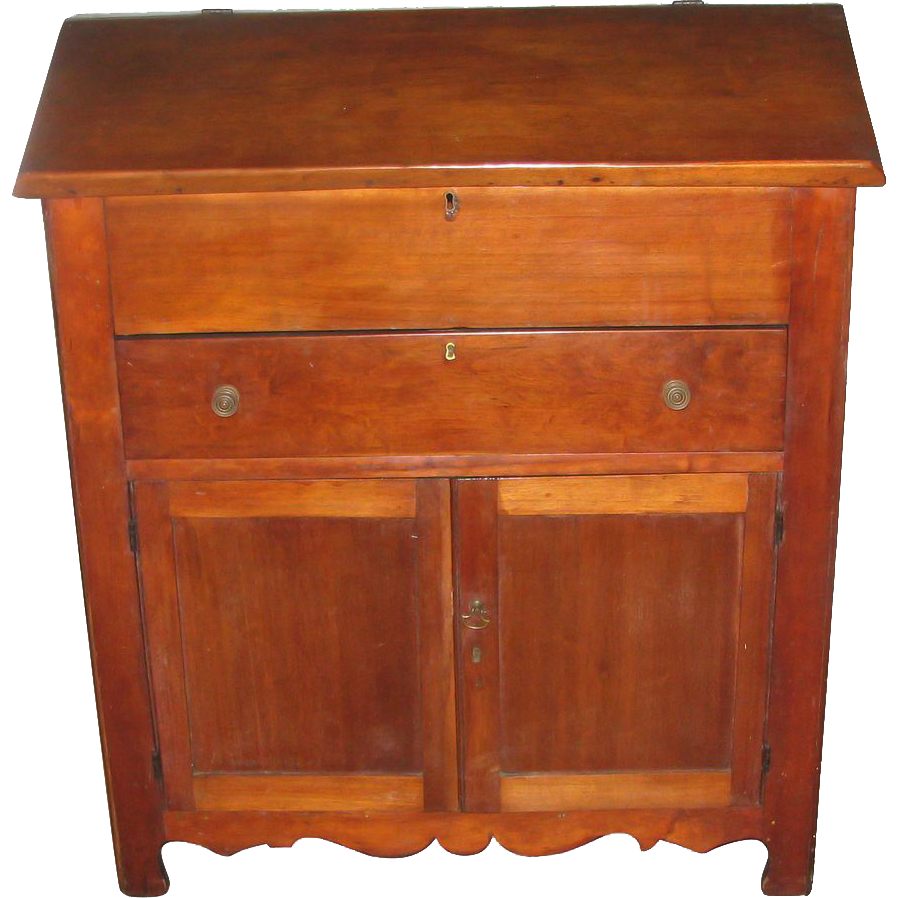 Early American walnut plantation desk