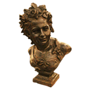 19th century Victorian period cast iron bust