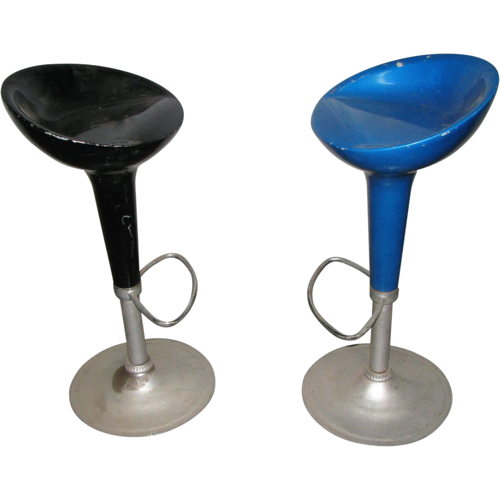 Vintage fiber glass bar stools