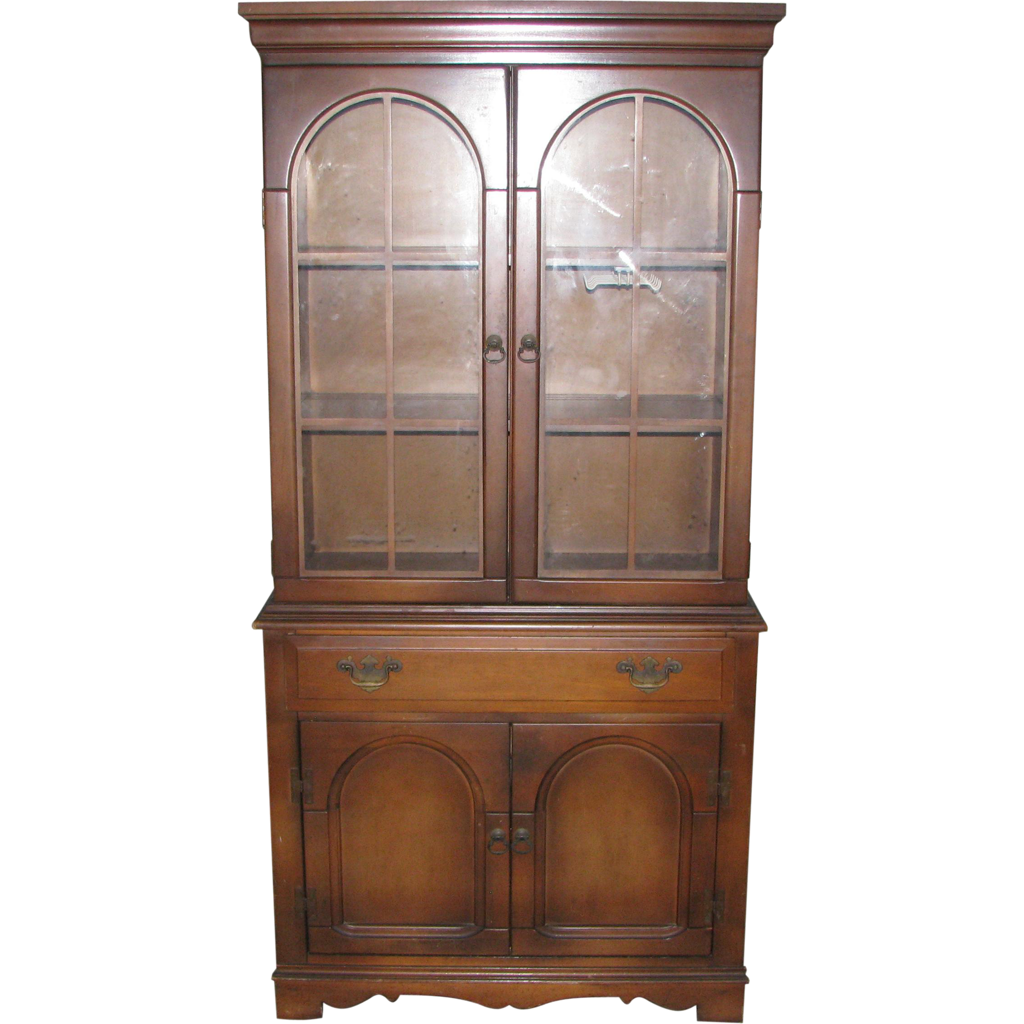 Simple walnut hutch with original finish