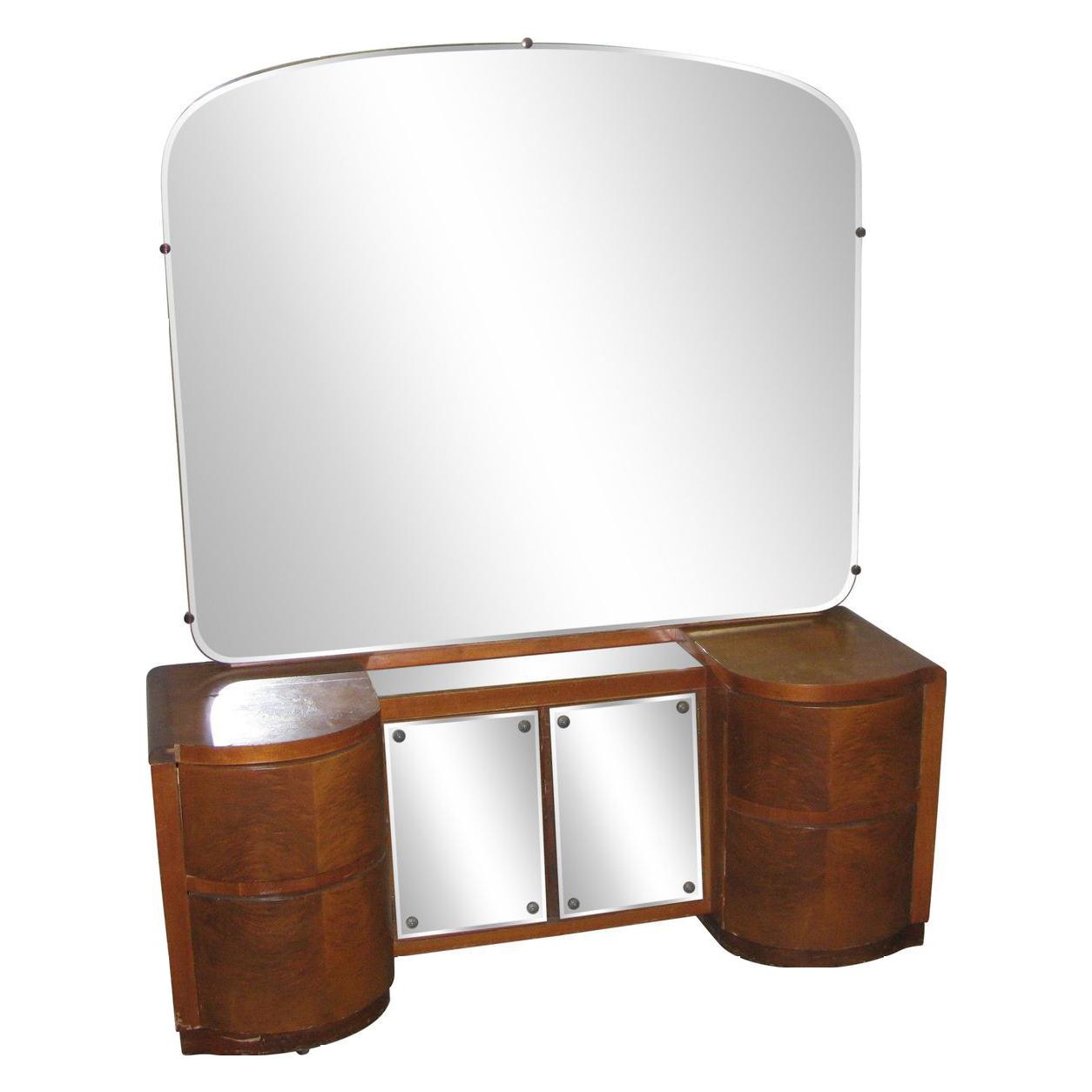 Vintage Deco vanity with mirror