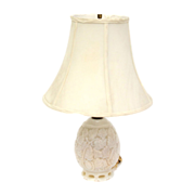 Vintage 1960's white milk glass table lamp