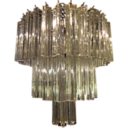 1970's Venini three tier crystal chandelier