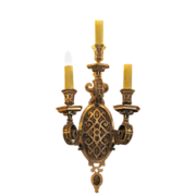 Pair of 1920's ornate Caldwell silver plated bronze sconces