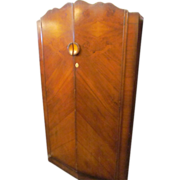 Art deco wooden walnut veneer armoire