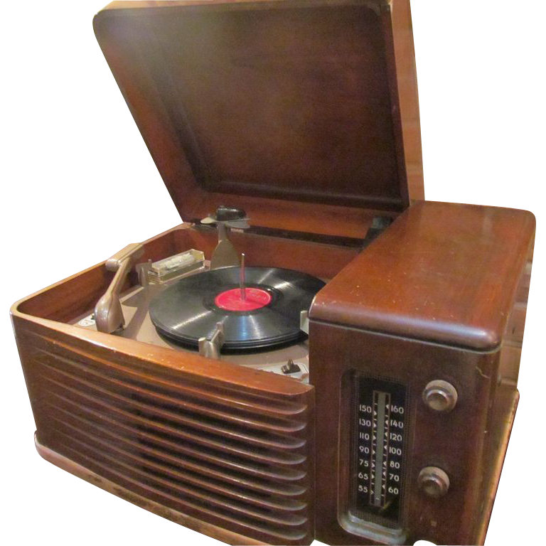 Philco phonograph with radio component