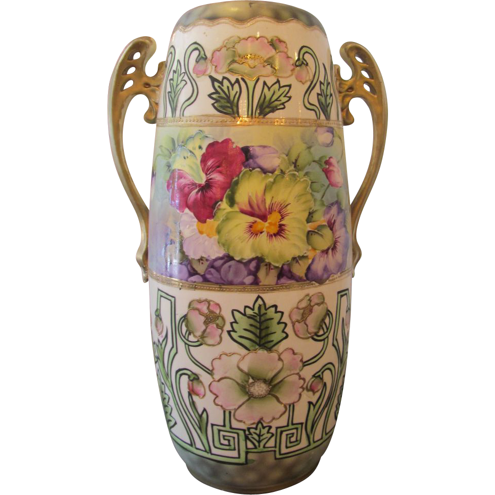 Pretty porcelain Nippon vase
