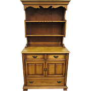Two piece maple cabinet server