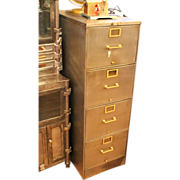 Vintage Globe Wernicke stripped metal file cabinet