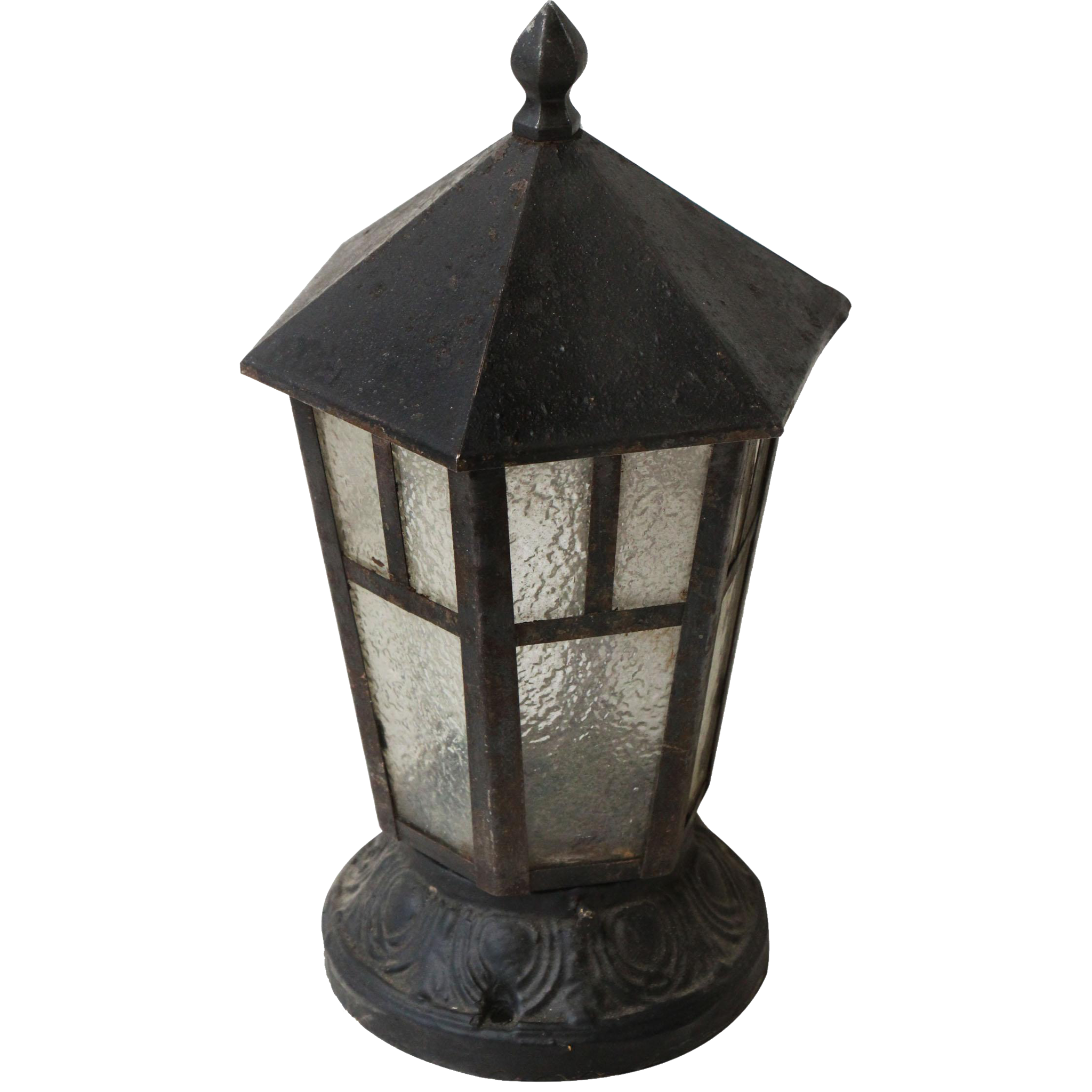Cast iron porch lantern