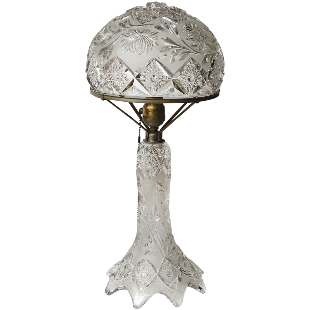 Beautiful pressed glass table lamp