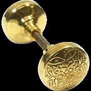 Ornate vernacular Lockwood knob set
