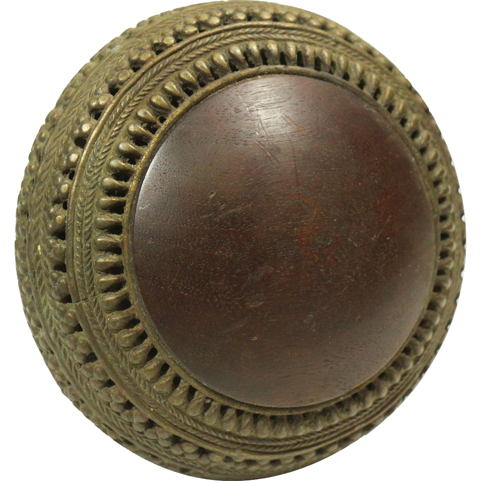 Unique large wooden bronze knob