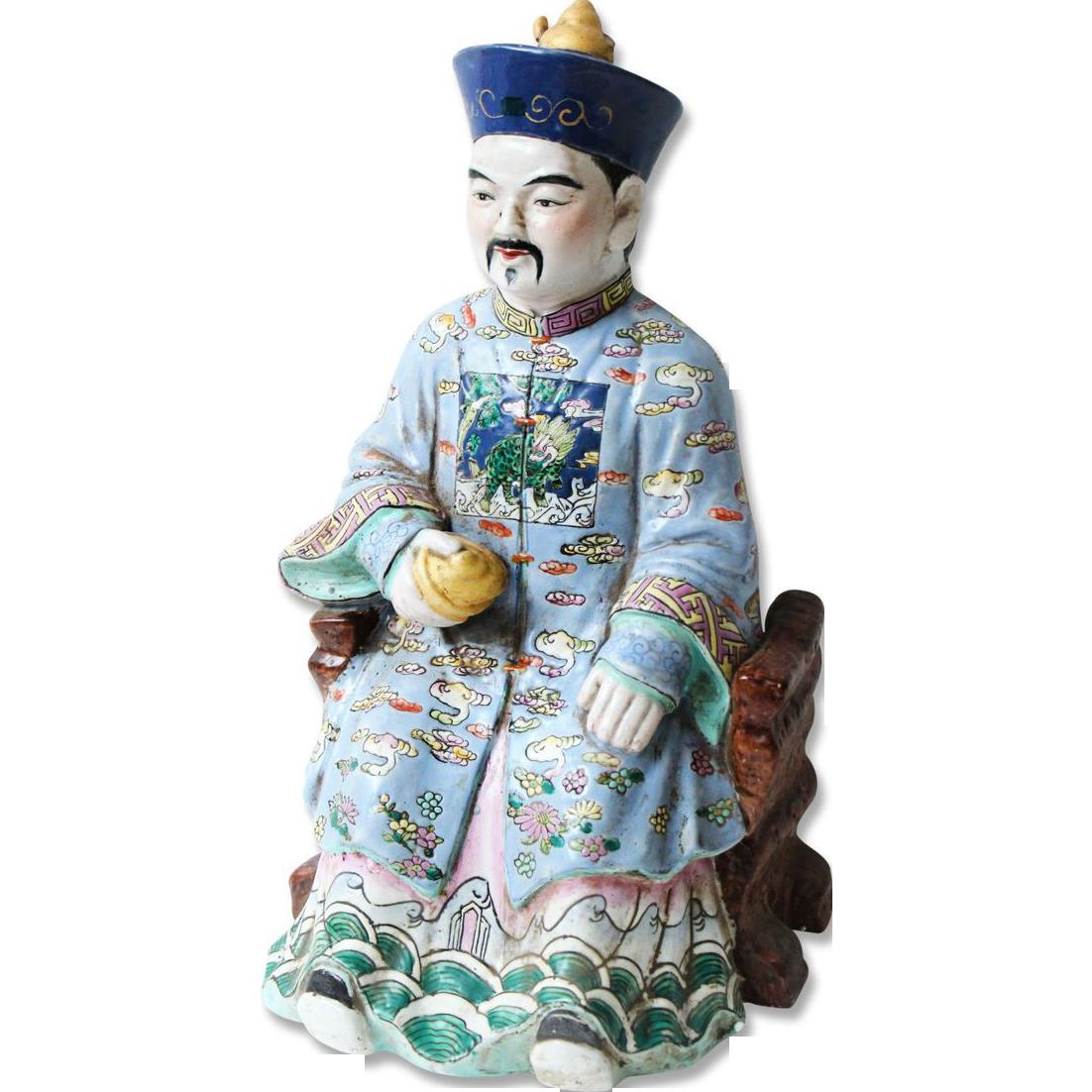 Vintage ceramic oriental figurine