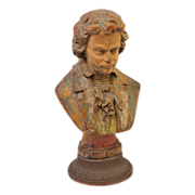 Vintage decorative Figural male bust