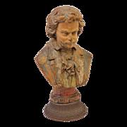 Vintage decorative Figural male bust