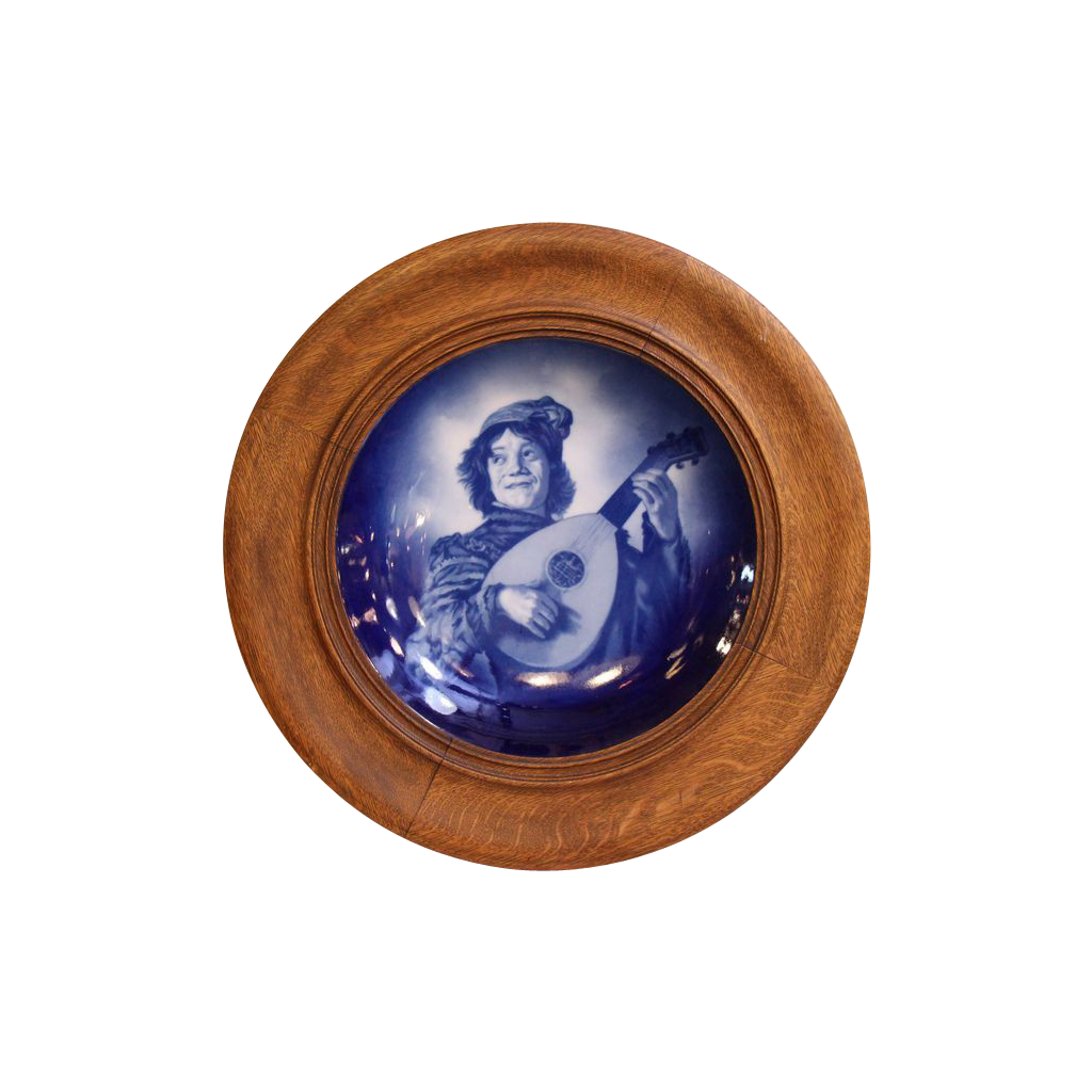 Frans Hals Jester ceramic plate