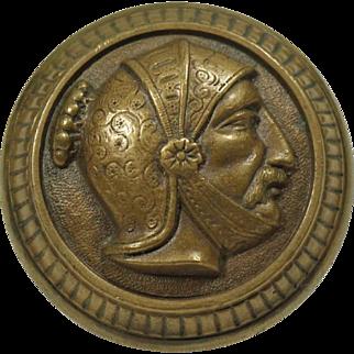 Antique Mallory Wheeler Greek Head Bronze Door Knob