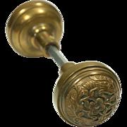 Pretty floral bronze doorknob set