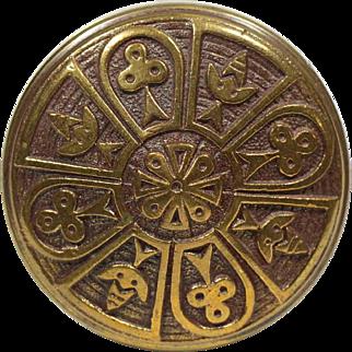 Antique Norwalk Vernacular Brass Door Knob