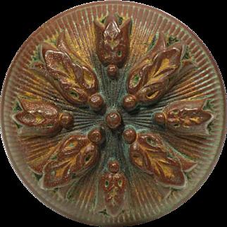 Antique High Relief 4 Fold Bronze Door Knob