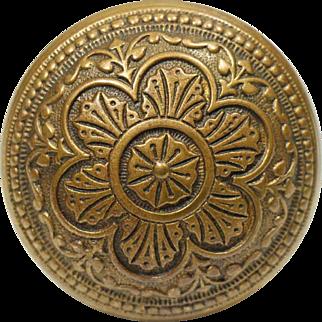 Antique Corbin Six Fold Bronze Knob