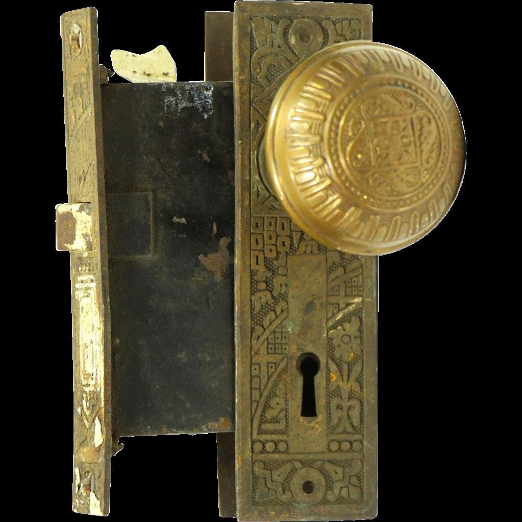 Ornate Corbin knob and lock set