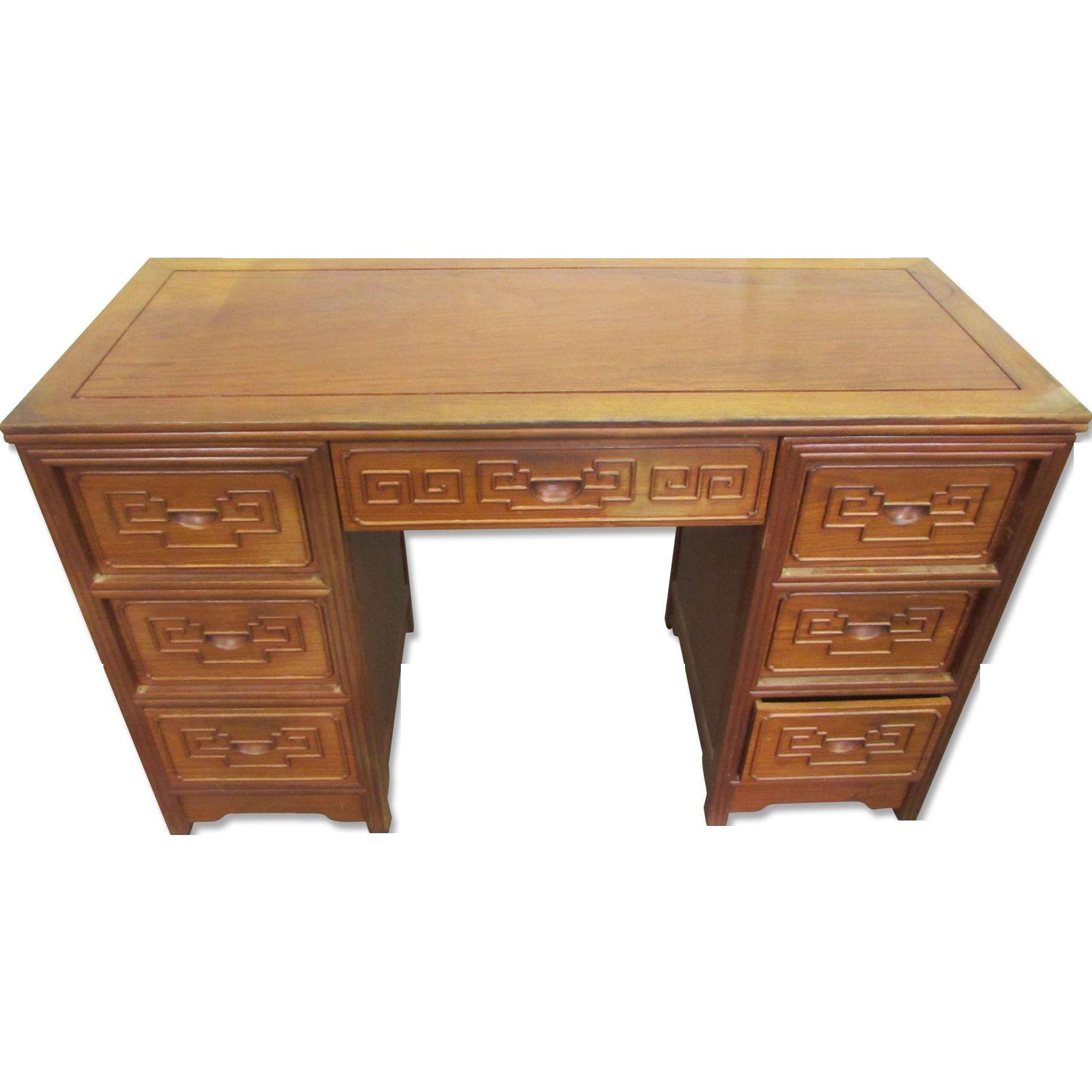Mid century desk with Greek details