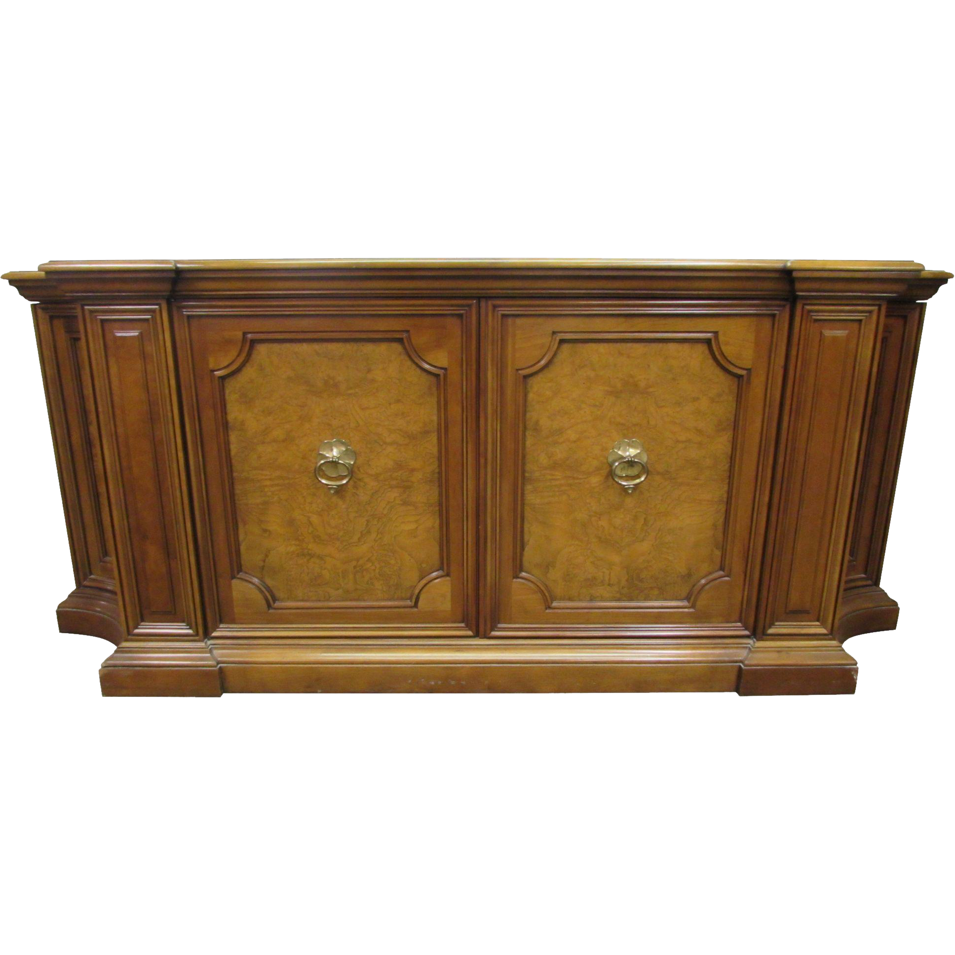 Antique wood sideboard with Parquet Top