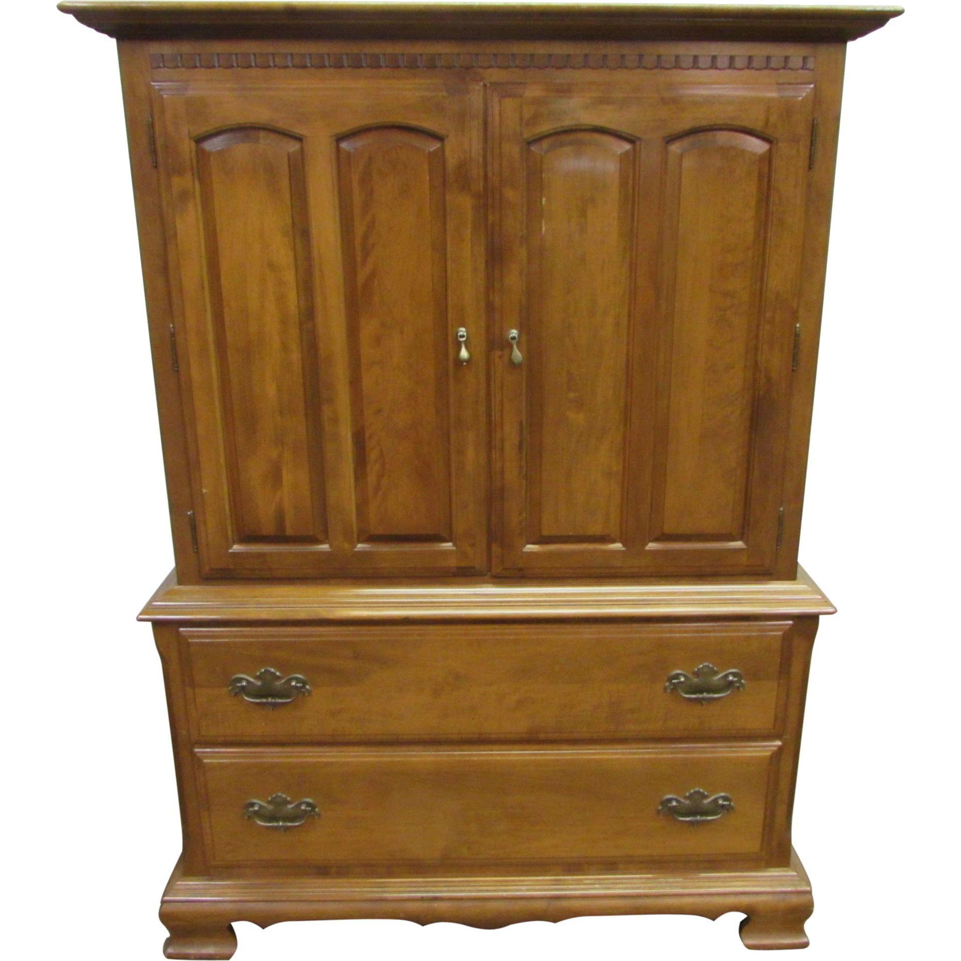 Vintage wooden dresser with doors