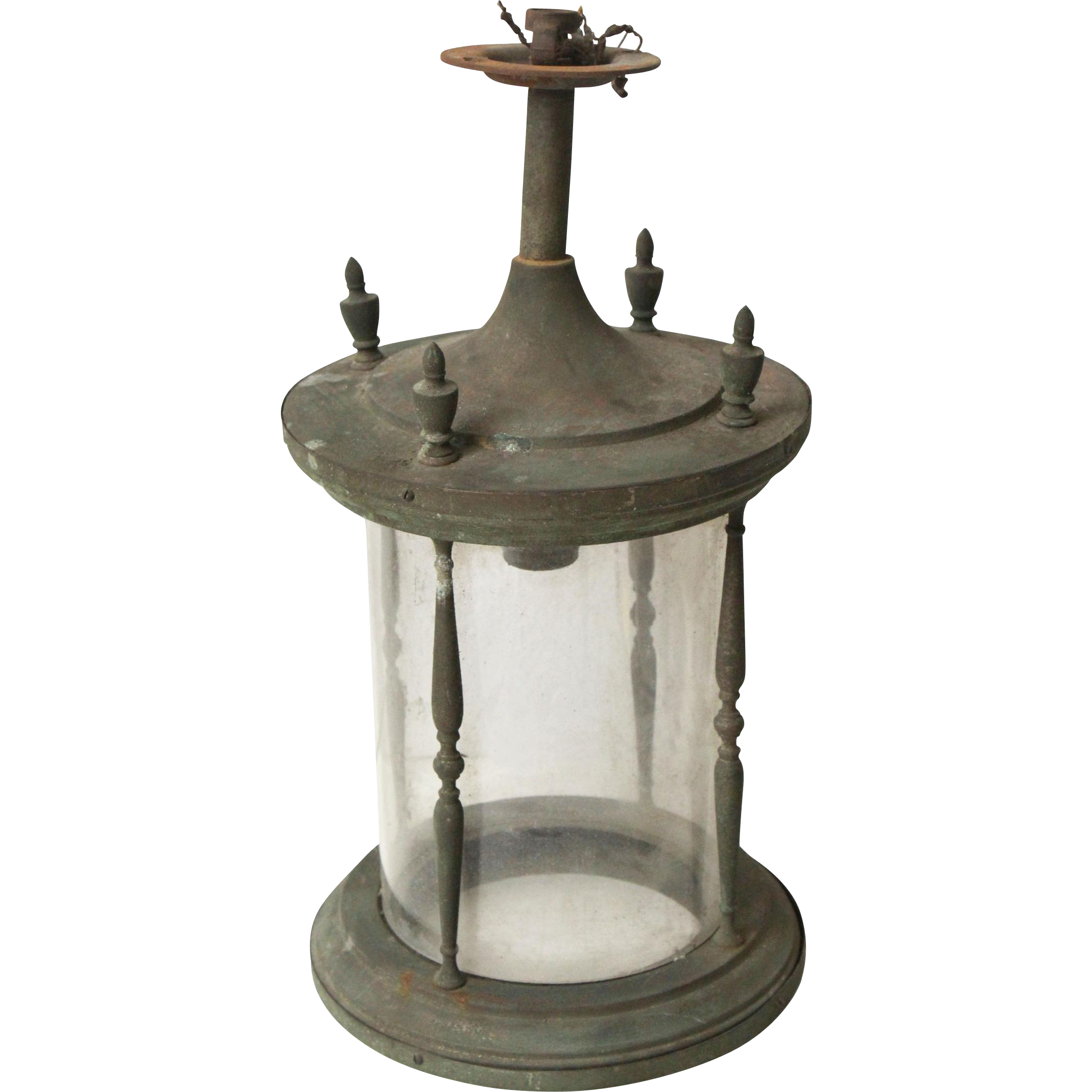 Simple brass cylindrical lantern