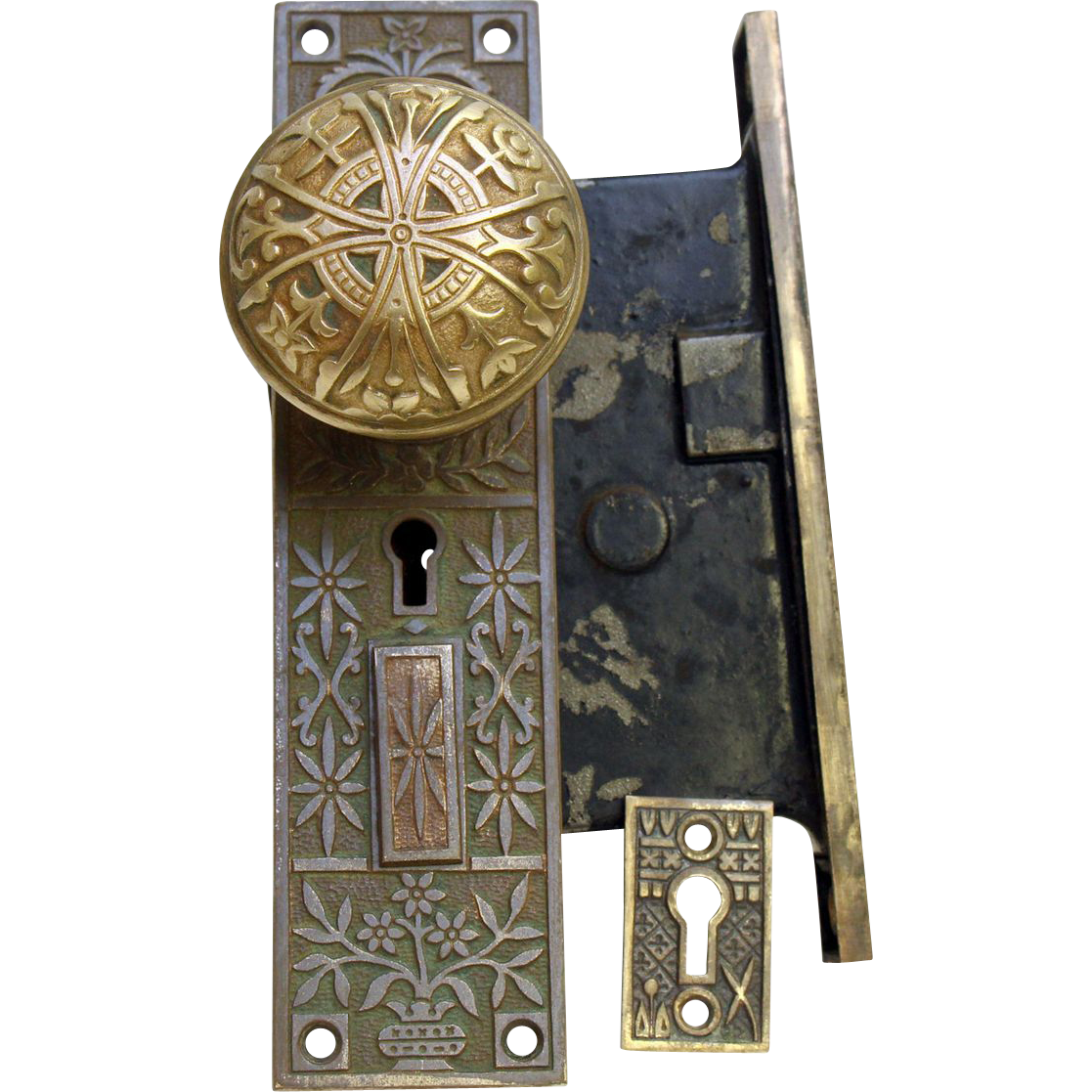 Aesthetic entry knob and lock set