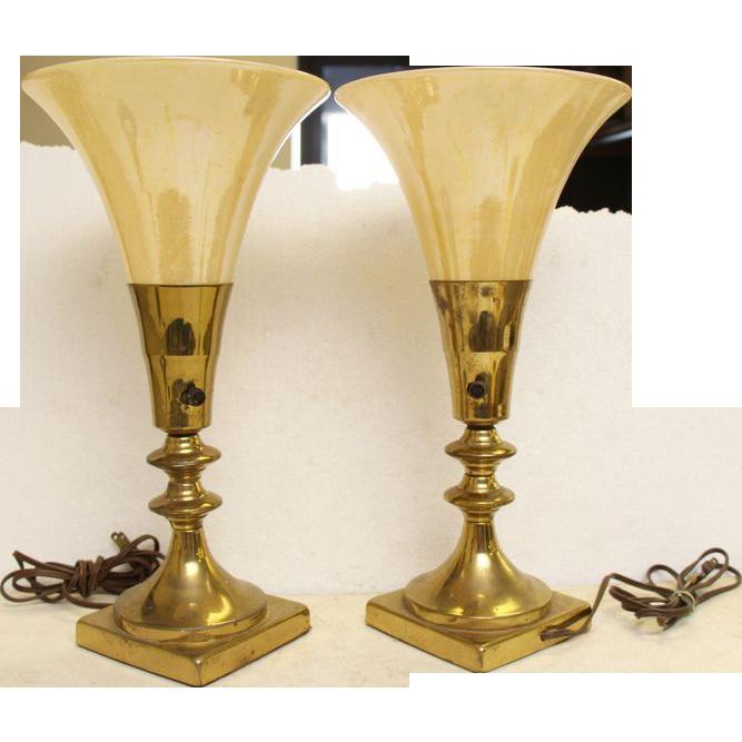 1950's Style modern brass lamp