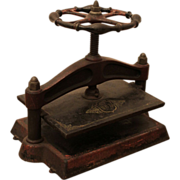 Antique decorative red book press