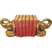 Copper wash elephant bookends