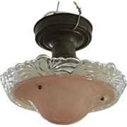 Petite pink petite flush mount light