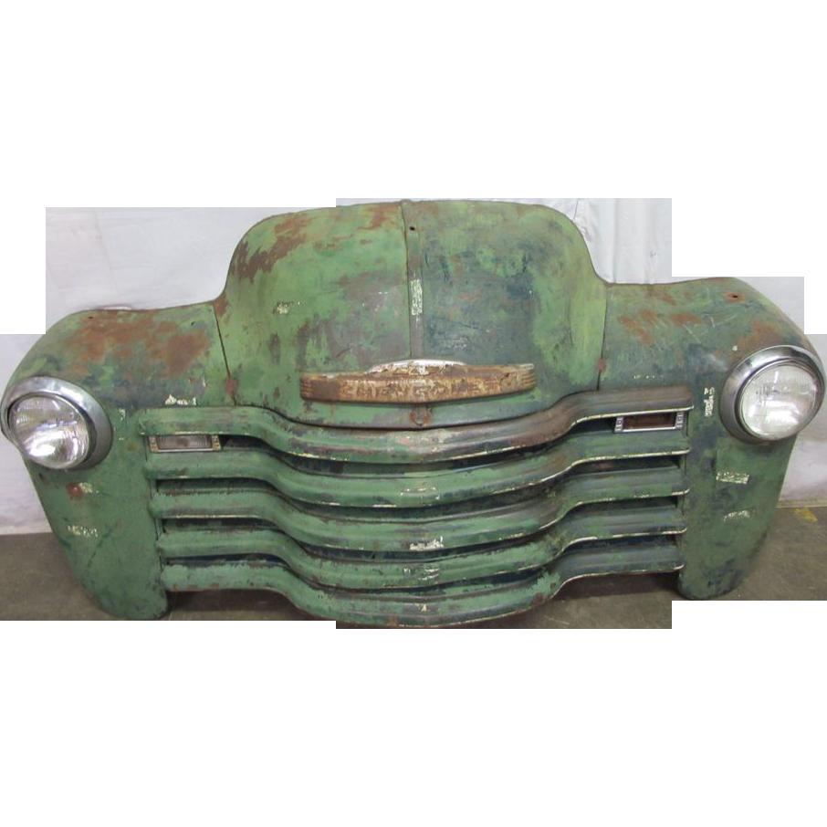 Green Chevrolet car front