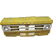 Vintage yellow Dodge car front