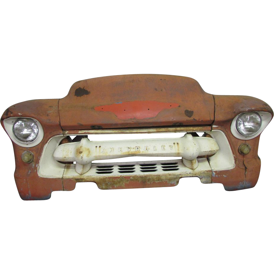 Vintage Chevrolet burnt orange car front