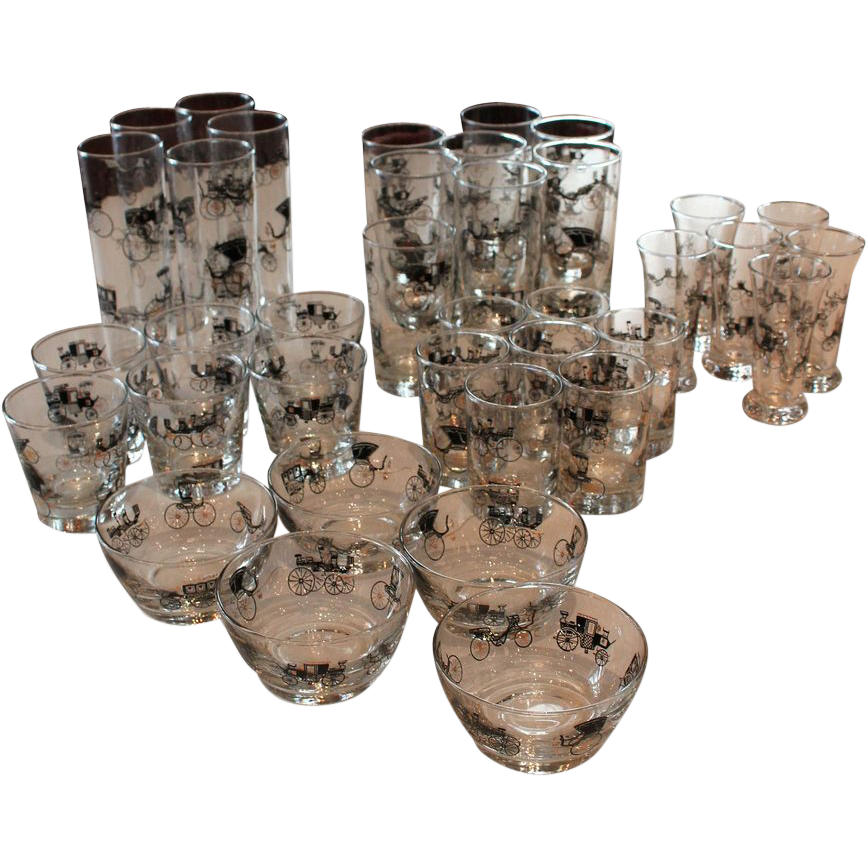 Set of Mid Century glasses by Libbey