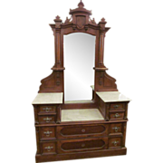 Eastlake marble top wooden vanity