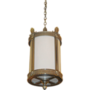 Nickel plated ornate entryway lantern