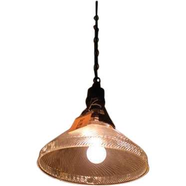 Textured glass hanging light
