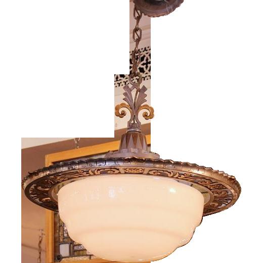 Hanging Art Deco light